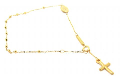 9ct Yellow Gold Rosary / Miraculous Medal Bracelet